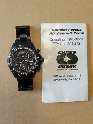 £0.73 • Buy Chase-Durer Special Forces Air Assault Team Chronograph ETA Cal. 251.272