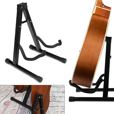 AU20.99 • Buy Foldable Guitar Stand Electric Acoustic Bass Floor Rack Holder Folding A-Frame