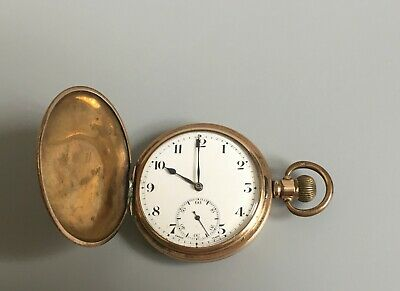 £95 • Buy Antique 1920s Swiss Syren Full Hunter In Gold Plated Case Pocket Watch