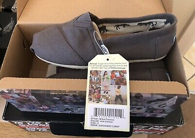 £11.90 • Buy Toms Classic Suede Ladies/girls Flat Shoe In Ash Canvas Grey  Size Uk 3