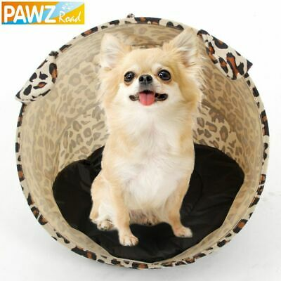£14.95 • Buy Pet Dog Cat Tunnel Toy Nylon Tent Easy House Bed Fashion Leopard Stripe Print