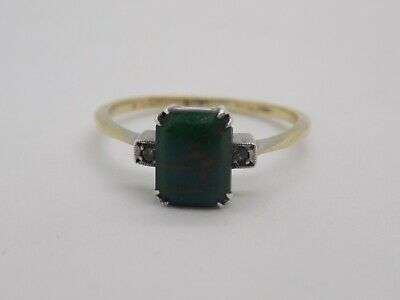 £65 • Buy Antique/vintage 9ct Gold Bloodstone Ring With Silver Setting. Size S.