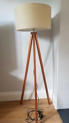 £30 • Buy Wooden Tripod Floor Lamp With Shade
