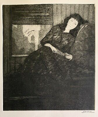 £143.85 • Buy Leon Louis Dolice (1892-1960) Original Signed Etching With Aquatint Mid-century