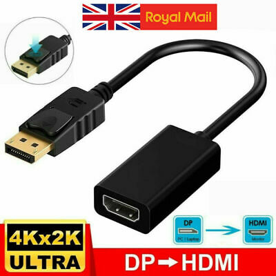 £0.99 • Buy Display Port DP Male To HDMI Female Video Cable Converter Adapter For 4K 1080P