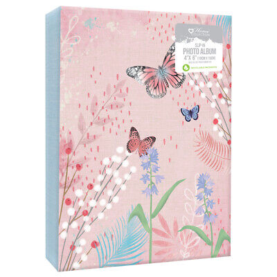 £4.99 • Buy Home Collection Slip In Photo Albums 4 X 6  Butterfly Album Holds 80 Photos🦋