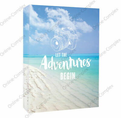 £4.99 • Buy Home Collection Slip In Photo Albums 4 X 6  Blue Holiday Album Holds 80 Photos🚢