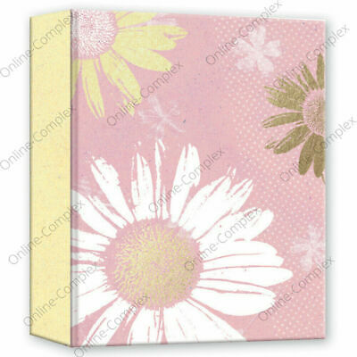 £4.99 • Buy Home Collection Slip In Photo Albums 4 X 6  Pink Flowers Album Holds 80 Photos🌻