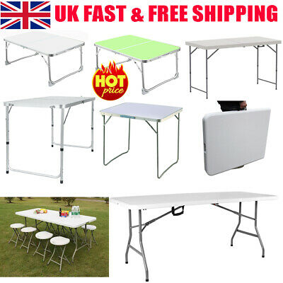 £28.75 • Buy Portable Folding Catering Trestle Table BBQ Party Camping Desk Picnic Heavy Duty