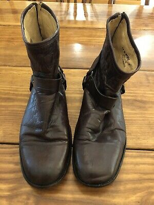 $87 • Buy Frye Mens Size 13 D Philip Harness Leather Back Zip Ankle Boots 87870