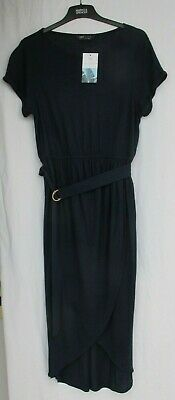 £16.50 • Buy Ladies Marks And Spencer Navy Beachwear Dress With Belt Size 14