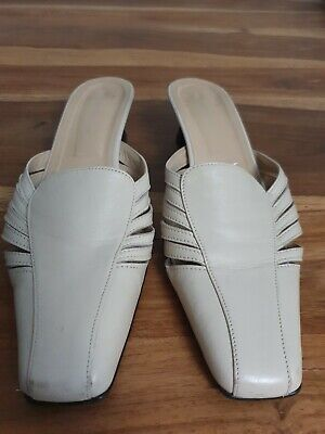 £2.99 • Buy Roland Cartier Ivory Leather Slip On Shoes Size 41