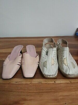 £2.99 • Buy Roland Cartier Pink Leather  Shoes Size 41, Leather Comfort Shoe Size 8