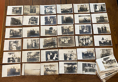 $26 • Buy Lot Of 95 RPPC Postcard Estate Find Wonderful Collection Real Photo Postcards