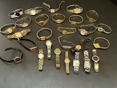 $ CDN83.64 • Buy Vintage Watch Lot Of 27 Women's SEIKO, OMEGA, TIMEX For Parts Or Repair