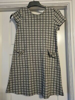 £2 • Buy Next New With Tags Checked Grey Dress Age 12