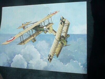 $29.95 • Buy WW1 BOMBERS By PETER HILL Acrylic Painting