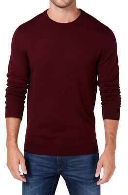$0.99 • Buy Club Room Mens Sweater Burgundy Red Large L Wool Knit Crewneck Pullover $75 221