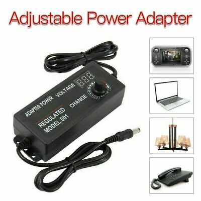 £10.99 • Buy Adjustable AC DC Electrical Power Supply Adapter Charger Variable Voltage 3V-24V