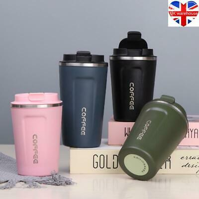 £9.69 • Buy Vacuum Leakproof Insulated Coffee Cup Mug Travel Thermal Stainless Steel Flask