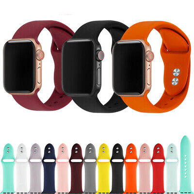 $ CDN1.72 • Buy For Apple Watch Strap Band IWatch Series 6 SE 5 4 3 38/40/42/44mm SILICONE Sport