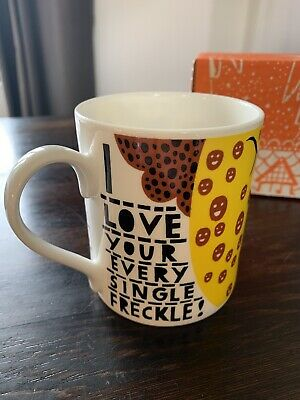 £40 • Buy Rob Ryan Freckles Mug 2016 Hand Printed Signed Edn Of 50 Mint Condition With RR