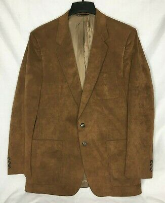 $54.99 • Buy VTG Winston Mens Size 42 Brown Two Button Sport Coat Blazer Made In USA