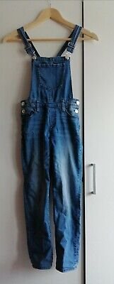 £6.99 • Buy H&M Girls Blue Denim Dungarees, Age 7-8. Very Cool & Free Postage!