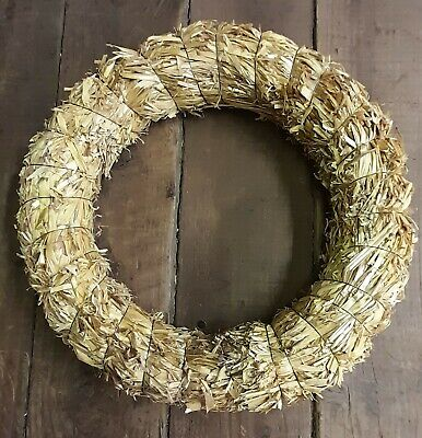 £4.50 • Buy 1 X 12 /30cm Straw Wreath Base On Wire Ring Craft Floristry Christmas