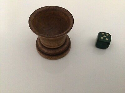 £4 • Buy Vintage Wooden Dice Shaker And Dice