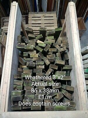 £3.60 • Buy Weathered 3  X 2  Fencing Rails, Just £1/m!