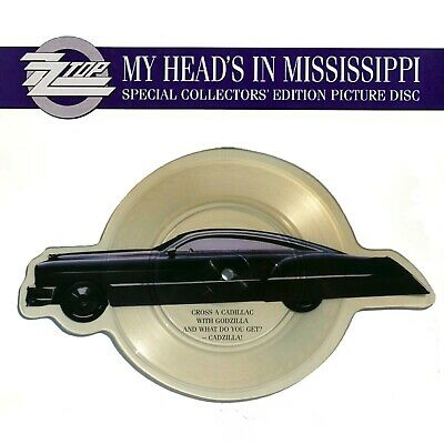 £24.95 • Buy ZZ TOP My Head's In Mississippi  CAR SHAPED PICTURE DISC W/Insert In PVC Wallet