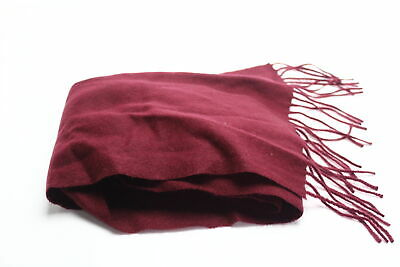 $0.99 • Buy Club Room Men's Burgundy Red Solid Scarf Cashmere Fringe Trim Accessory $120 253