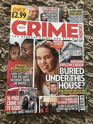 £2.50 • Buy True Crime Magazine- Crime Monthly - As New Read Once May 2021