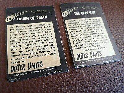 £1.99 • Buy 2 X Outer Limits Gum Cards 1964