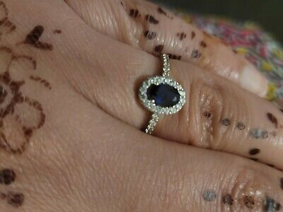 £90 • Buy Ladies 9ct Gold Sapphire Ring Size M Used Once