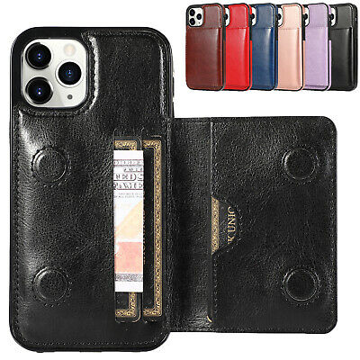 AU9.99 • Buy For IPhone 6 7 8 11 12 Pro Xs Max Xr PU Leather Card Slot Wallet Flip Back Case