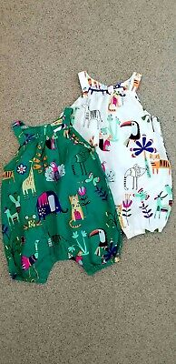 £8 • Buy 2-Pack Baby Girls Animal Print Summer Rompers Bundle By Next Baby Age: 0-3 Mths