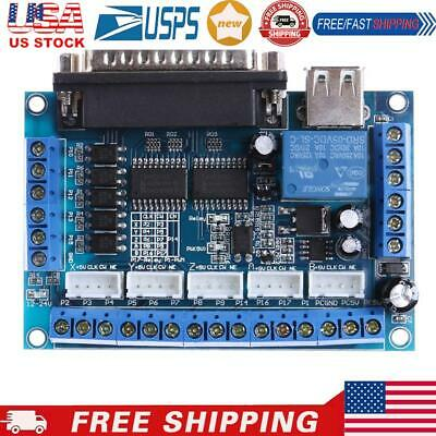 $11.52 • Buy Mach3 CNC Stepping Motor Driver Interface Adapter Breakout Board +USB Cable