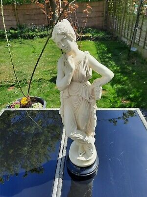 £50 • Buy Large Stunning Heavy Greek Statue Of  The Dancer  By Antonio Canova On A Plinth.
