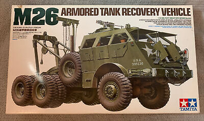 $68 • Buy Tamiya M26 Armored Tank Recovery Vehicle 1:35 Model Kit Open Box/ Sealed Parts