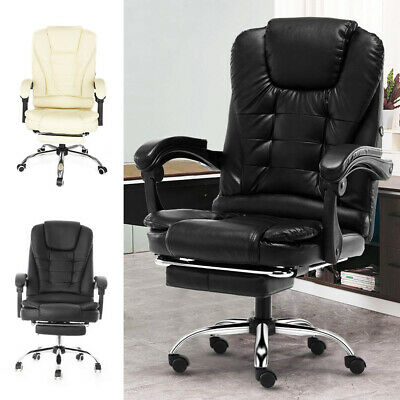£62.99 • Buy Executive Office Chair Swivel Computer Gaming Chair Recliner Leather Desk Seat