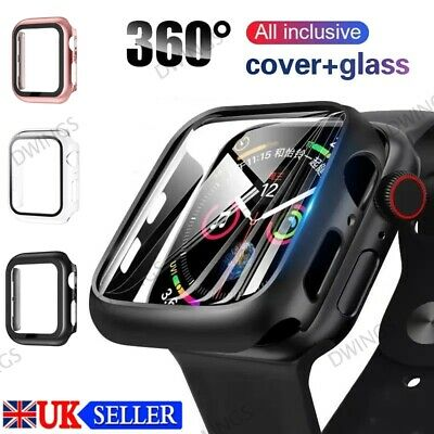 £2.87 • Buy Tempered Glass Screen Protector Case Cover For IWatch Apple Watch 6 5 4 SE 40 44
