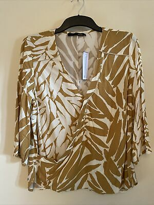 £9 • Buy Captain Tortue 12 Size 40 Trend NWT Blouse Mustard Pattern