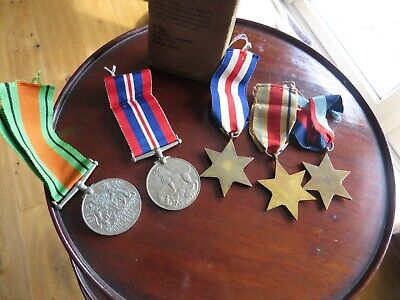 £49 • Buy World War II  5 Boxed Medals Africa Star Italy Star France And Germany Star