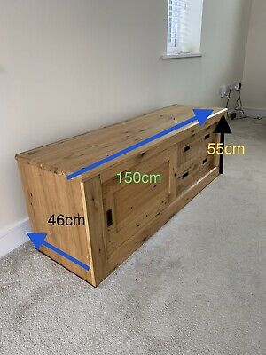 £50 • Buy Next Home Solid Oak Tv Cabinet Used
