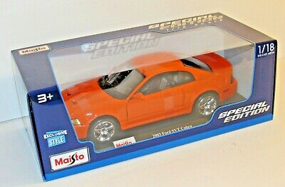 $32.99 • Buy Maisto 2003 Ford Mustang SVT Cobra Competition Orange 1:18 Exclusive Style NISP