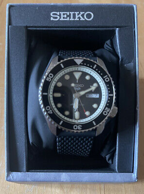 £119 • Buy Seiko 5 Sports Steel Black Silicone Strap Automatic Mens SRPD73K2 RRP £250