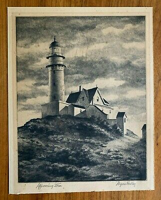 £17.98 • Buy Myron Hadley  Approaching Storm  Pencil Signed Etching Vintage