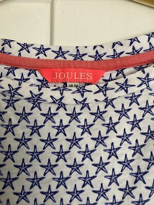 £5.75 • Buy Joules Navy And White Shirt Sleeved T Shirt - Size 14